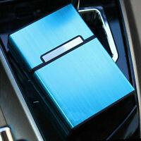 Blue Pocket Aluminum Metal Cigarette Storage Cigar Tobacco Top Hol BEST K8D2