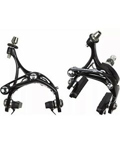 New Campagnolo Athena -D Skeleton Brakes Set Front / Rear Blk Free Shipping