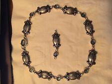 Georg Jensen New Moonlight Blossom Necklace 15 with Moonstones