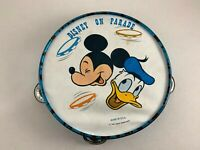 WALT DISNEY PRODUCTIONS DISNEY ON PARADE TAMBOURINE WITH MICKEY MOUSE AND DONALD