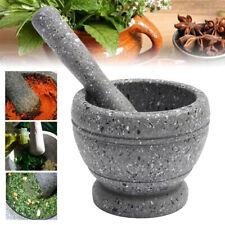 17cm Granite Pestle and Mortar Set / Herb Spice Grinder / Solid Crusher UK sae