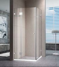 1000x1000 SQUARE PIVOTING OPEN DOOR FRAMELESS SHOWER SCREEN 10 MM GLASS