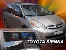 Wind deflectors TOYOTA SIENNA 5-doors 2003-2010 4-pc HEKO Tinted