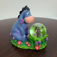 "Disney Store 4.5"" Eeyore And Gopher Snow Globe Winnie The Pooh Spring Flowers"