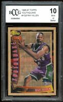 1996-97 Topps Youthquake #YQ9 Ray Allen Rookie Card BGS BCCG 10 Mint+