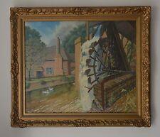 Roue Hydraulique par canal à sticklepath Devon peinture à l'huile par a.r.c.a