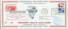 BALLOON POST Canada 1967 Carried by 'Pro Juvente' Austria