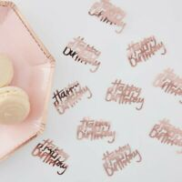 ROSE GOLD HAPPY BIRTHDAY TABLE CONFETTI - DITSY FLORAL, Birthday Party,Tableware
