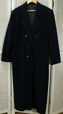 """BOGNER Vintage Women's Overcoat 47"""" Bust US12 Extra Long Tall Wool-Cashmere Coat"""