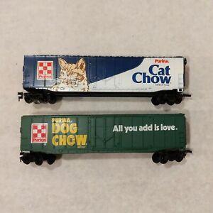 HO Bachmann Purina DOG CHOW & CAT CHOW Boxcars