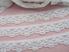 """10 yards Elastic Stretch Floral Soft Lace 1/2"""" Spandex/Trim/Sewing/Sew T32-White"""