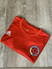 ADIDAS COLOMBIA Mens National Soccer Jersey Red Monogram Pattern LARGE NWOT