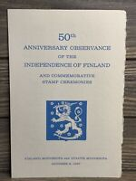 Vintage Program 50th Anniversary Independence Finland Stamp Issue Ceremony 1967