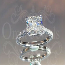 3.20Ct Radiant Unique Brilliant Moissanite Engagement Ring 14K Real White Gold