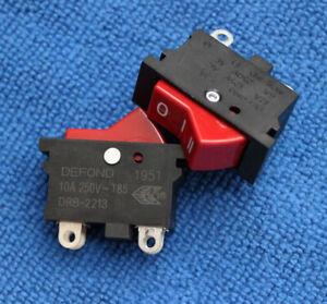 1pcs DRB-2213 Rocker Power Switch Push Botton 4 Pin NEW