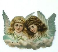 Antique Victorian Angels Children Vintage Scrap Die Cut Clip Art Christmas