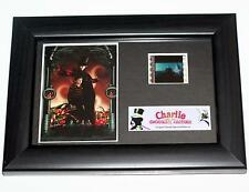 CHARLIE AND THE CHOCOLATE FACTORY Willy Wonka 2005 MOVIE PHOTO and FILM CELL New