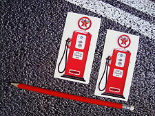 TEXACO OIL Fuel Pump Stickers Garage F1 Lemans Retro Vintage Car Model Makers
