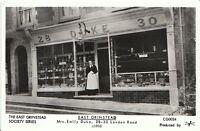 Sussex Postcard - East Grinstead - Mrs Emily Duke Outside Shop - c1910 U876