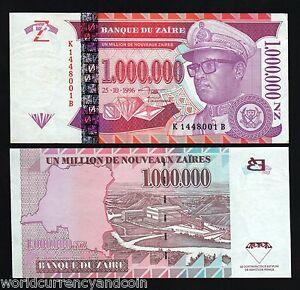 ZAIRE 1000000 1,000,000 P79 1996 x 100 Pcs Million Lot BUNDLE UNC CONGO DR NOTE