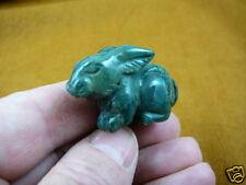 (Y-BUN-SI-551) BUNNY RABBIT GREEN gemstone STONE carving gem HARE