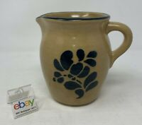 "Pfaltzgraff USA ""Folk Art"" Creamer # 024, Old Castle, Small Pitcher, 4 1/2"" H !"