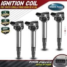 Set of 4 Ignition Coils for Toyota Corolla Matrix Prius Scion xD 1.8L L4 UF596