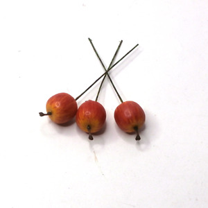 50 PCS Artificial 20mm Apples on wire Artificial Fruits on wire Artificial Berry
