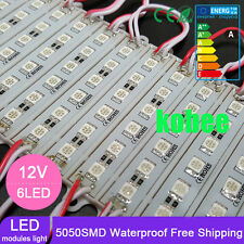 DC12V 6LED Module SMD 5050 White warm white Red Green Blue Yellow Sign Design