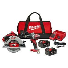 Milwaukee 2992-22 M18 18-Volt Lithium-Ion Hammer Drill & Circular Saw Combo Kit