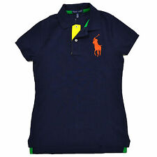 Polo Ralph Lauren Womens Polo Classic Mesh Rugby Big Pony Logo Xs S M L Xl
