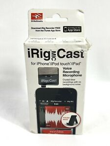 IK MULTIMEDIA iRig Mic Cast Voice Recording Microphone for iPhone 4/4s iPad 1/2