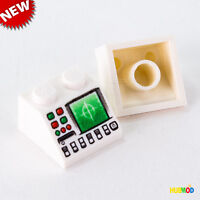 LOT of 2 LEGO 2x2 SLOPE 45° Space Radar Disk Slot Control Panel Computer NEW