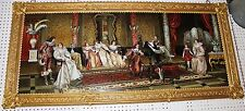 Exquisite French German Porcelain Painting Music Room Bronze Frame Hand Painted