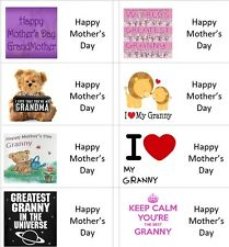 40 x Granny/s Happy Mothers Day labels/stickers cakes/sweets/gift bags/presents