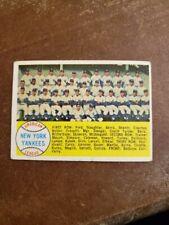 New York Yankees 1958 Teamcard/Checklist #246
