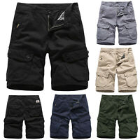 Mens Cargo Summer Army Combat Work Shorts Pants Capri Casual Camping Trousers AU