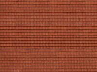 Noch HO- 56670, 3D-Kartonplatte Dachziegel rot, GMK World of Modelleisenbahn, Ho