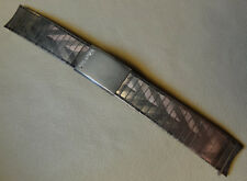 Mens Bulova Drema New Old Stock NOS 17mm Silver Tone Watch Band Round Ends