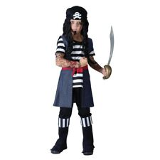 Large Boys Tattoo Pirate Costume - Fancy Dress Outfit Kids Halloween Childrens