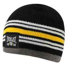 Everlast Mens Black Badge Beanie Hat BNWT New Boxing Training Running l Cap EV1