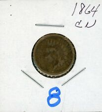 1864 Indian Head One Cent US Penny Good Condition  #16