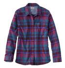 LL Bean Beanflex Women's Plus Size 3X 22-24 All Season Plaid Flannel Shirt Top
