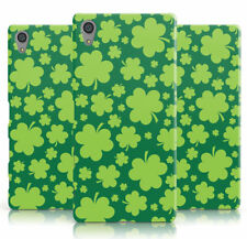 DYEFOR SHAMROCK IRISH GREEN LUCKY ST PATRICKS PHONE CASE COVER FOR SONY XPERIA
