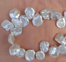 16-17mm Huge White Keshi/Keishi Cornflake Petal-Like Freshwater Pearls AA 40+
