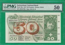 Switzerland Pick# 48n  50 Franken  1974  AU