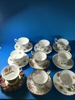 LOT OF ASSORTED ROYAL ALBERT CUPS AND SAUCERS