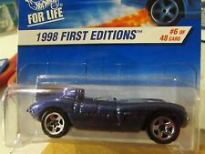 Hot Wheels Jaguar D-Type 1998 First Editions Blue 5 sp w/Petty logo on card