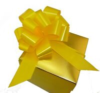 10 Daffodil Yellow Pull Bows Gift Basket Balloon Wedding Party Decorations