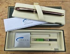 New Cross Townsend Sienna Brown Fountain Pen MEDIUM 14K nib